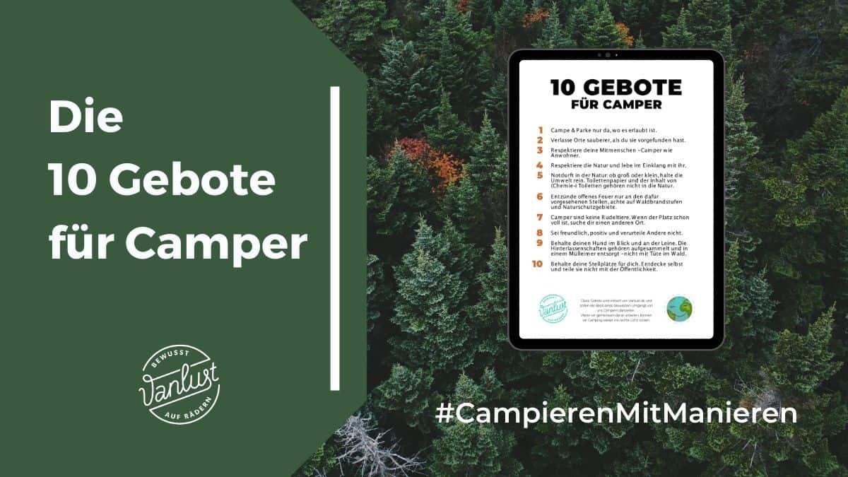 Die 10 Gebote für Camper
