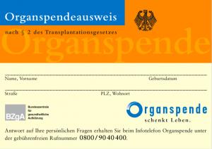 Der Organspendeausweis - wir informieren dich!