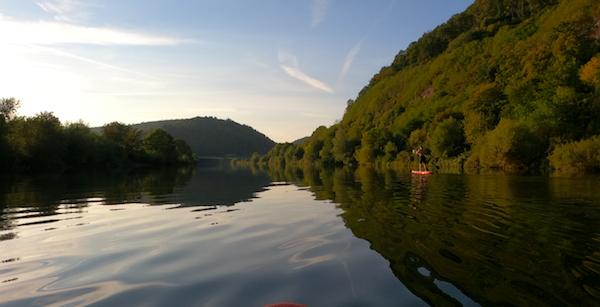 SUPen auf dem Neckar bei Neckargerach