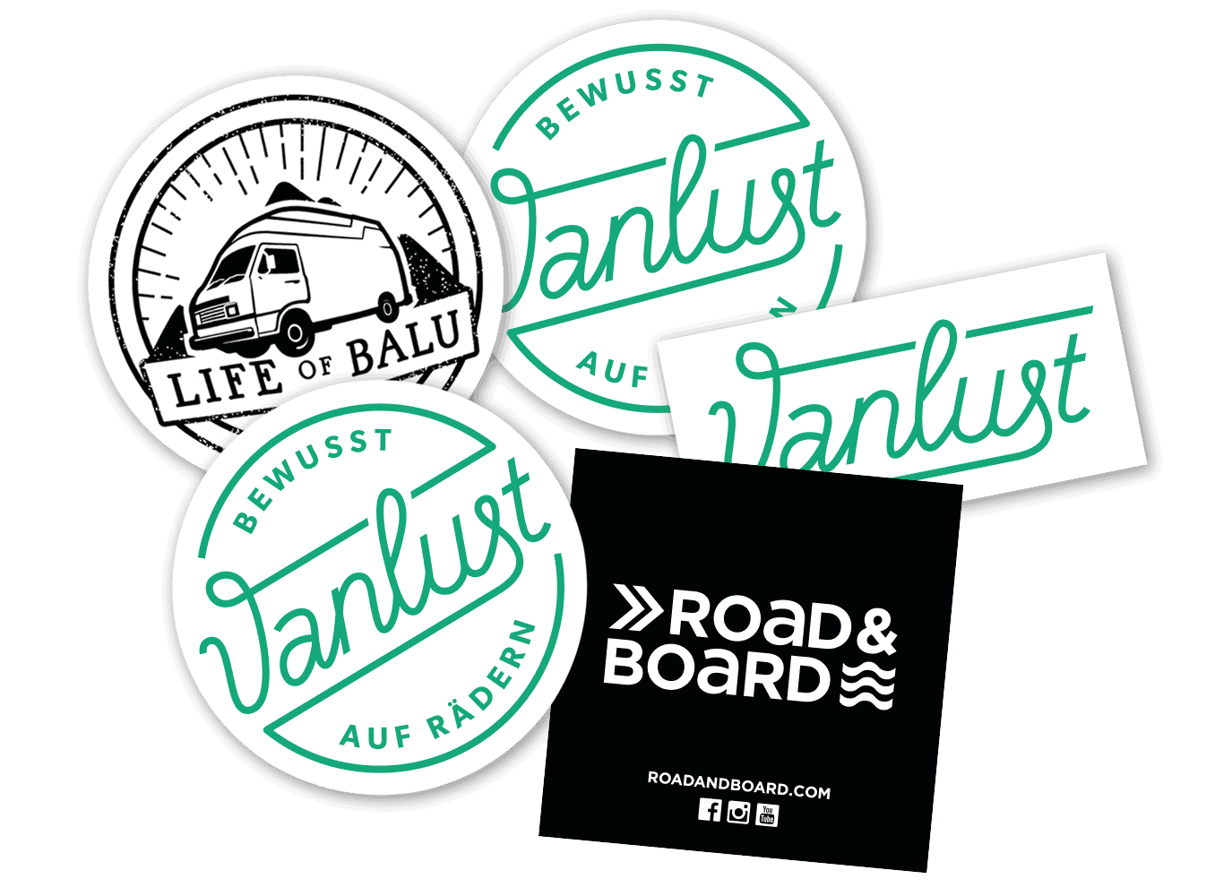 Sticker Set Vanlust Life Of Balu Roadboard