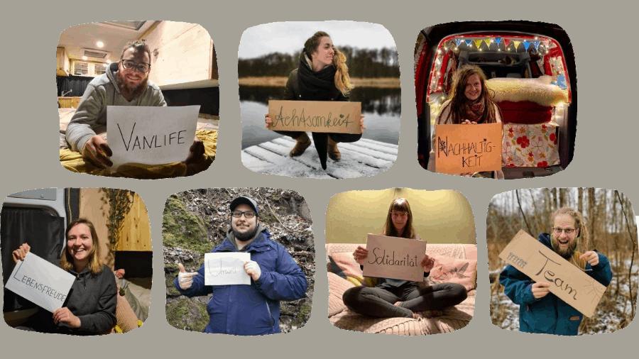 Vanlust Team - Vanlife - Achtsamkeit - Nachhaltigkeit - Lebensfreude - Umwelt - Solidarität - Team